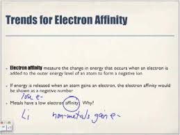 periodic table trends electron affinity youtube