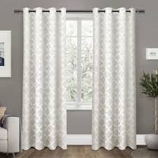 cartago insulated woven blackout grommet top window curtain panels