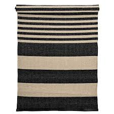 Black And White Striped Outdoor Rug by Bloomingville Outdoor Rug Striped