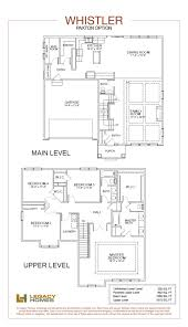 two story house plans with master on main floor whistler floor plan legacy homes omaha and lincoln