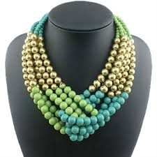 fashion jewelry statement necklace images 2015 new fashion women short multicolor necklace handmade crochet jpg