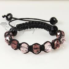 bracelet color crystal images Two color alternating macrame crystal beads bracelets jewelry jpg