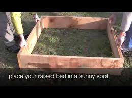 How To Install A Raised Garden Bed - how to build a raised vegetable garden bed youtube
