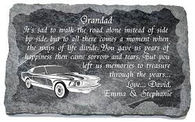 grave ornaments for grandad memorial plaques