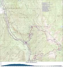Mt Washington Trail Map by Ranger Creek Palisades