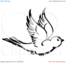 flying birds tattoo designs clipart of a black and white flying bird royalty free vector