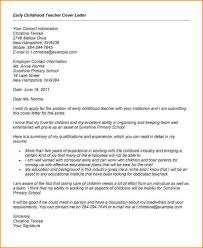 Early Childhood Resume Examples by 12 Early Childhood Education Cover Letter Sample Basic Job