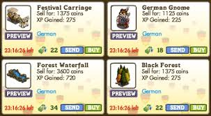 farmville german items return for one day only as birthday classics