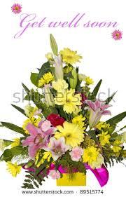 get better soon flowers beautiful bouquet flowers get well soon stock photo 89515774