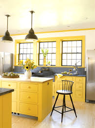 painted kitchen cabinet ideas freshome striking blue and yellow