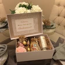 bridesmaids boxes gold and blush bridesmaids box absolutely aj