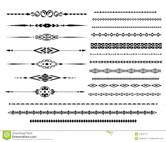 ornamental rule lines in different design stock vector image