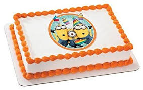 edible minions despicable me 2 minions birthday edible icing image