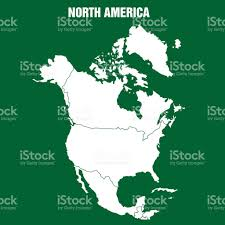 America Continent Map by Map Of North America Continent Illustration Stock Vector Art