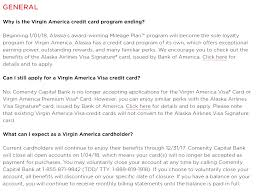 comenity bank virgin america credit cards to close on 1 04 18