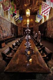 The Dining Hall With Ceilings From Spain Town Flags From Sienna - Hearst castle dining room