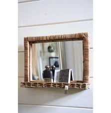 rustic rattan hall mirror m frames u0026 mirrors entrance hall
