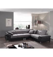 canape d angle droit canapé d angle droit en tissu gris avec têtières relevables et pièt