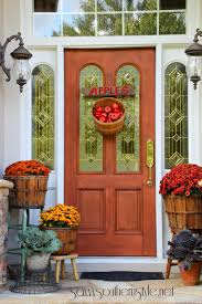 thanksgiving front door decorations 37 fall porch decorating ideas ways to decorate your porch for fall