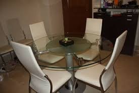round table with lazy susan built in round glass dining table with in built lazy susan and 4 2 chairs