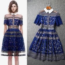 self portrait dresses 2015 new short prom lace dress party hollow