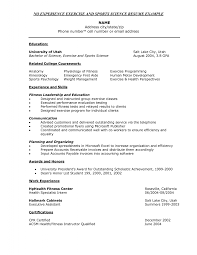 a exle of a resume exercise science resume exle resume resume exles