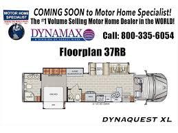 Class C Floor Plans by 2018 Dynamax Corp Dynaquest Xl 37rb 450hp Solar Sat King W D