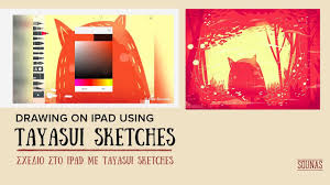 drawing on ipad with tayasui sketches time lapse video 30