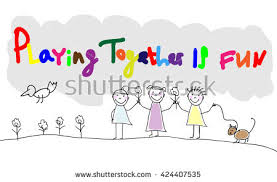 children group kids hand draw letters stock vector 424784923