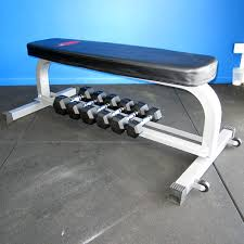 Flat Bench Dumbbell Aquila Flat Bench With Dumbbell Rack Buy From Fitness Market
