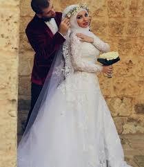robe de mariã e pour femme voilã e de dernières tendances pour mariée musulmane