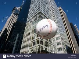 new york city thanksgiving day macy parade baseball balloon stock