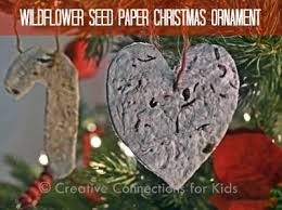 wildflower paper ornaments