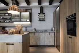 Industrial Kitchen Cabinets Kitchen Style Great Ideas Of Gold Finishes Open Shelves In