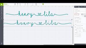 How To Weld In Cricut Craft Room - how to create continuous cursive words with heart in cricut with