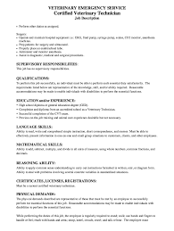 Vet Tech Resume Examples by Of Resume Sample For Certified Veterinary Technician Resume