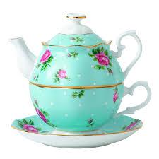 roses tea set royal albert china new country roses polka blue tea
