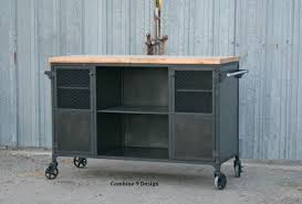 Custom Made Kitchen Islands by Buy A Custom Made Vintage Industrial Bar Cart Kitchen Island