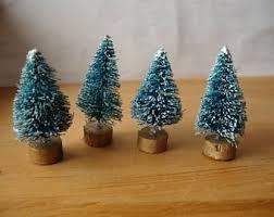 Mini Christmas Tree Crafts - white bottle brush trees 3 christmas tree craft supplies