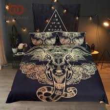 bedding outlet stores beddingoutlet tribal elephant bedding set boho mandala golden