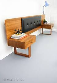 Timber Bedroom Furniture by Recycled Hardwood Timber Bed Head With Floating Bedsides Bedroom