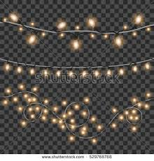 vector shining christmas lights isolated on stock vector 529768768