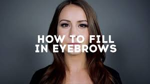 How To Color In Eyebrows How To Fill In Eyebrows Youtube