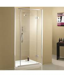 900mm Shower Door Aquadart Inline Recessed Hinged Shower Enclosure 900mm