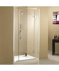 aquadart inline recessed hinged shower enclosure 900mm