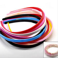 hair bands simple design teeth candy color headbands 3pcs plastic hairbands