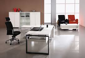 Modern Executive Desks White Modern Office Desk With Drawers Greenville Home Trend