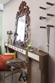 Thin Vanity Table Chic Implementation Dressing Table With A Mirror In The Interior