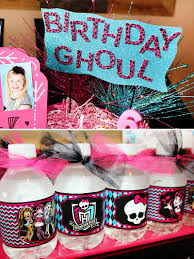 high birthday party ghoulish glam high birthday party hostess with the mostess