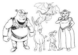 shrek coloring pages all characters coloringstar